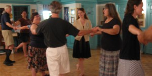 Dancers of all ages enjoy participating in a Tuesday night dance with the Williamsburg Heritage Dancers
