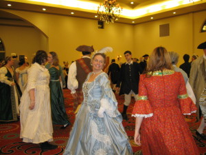 Dancers enjoy colonial and English country dancing at the 2013 George Washington Ball in Williamsburg, Virginia